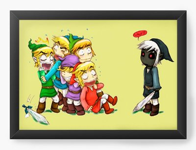 Quadro Decorativo The Legend of Zelda Baby Version