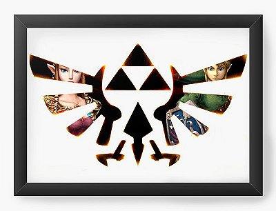 Quadro Decorativo The Legend of Zelda Super Triforce