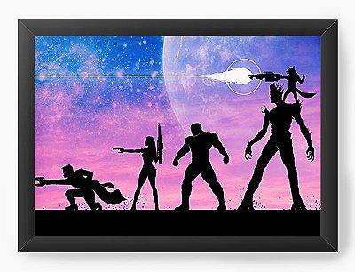 Quadro Decorativo Guardiões da Galáxia - Filme