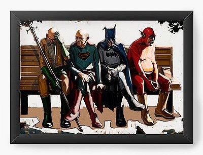 Quadro Decorativo Flash, Batman, Super Men