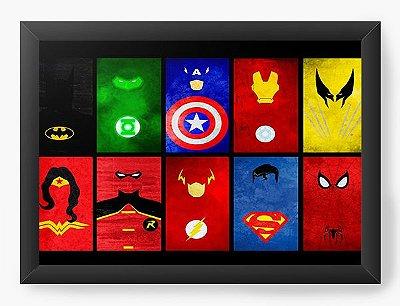 Quadro Decorativo Super Heróis