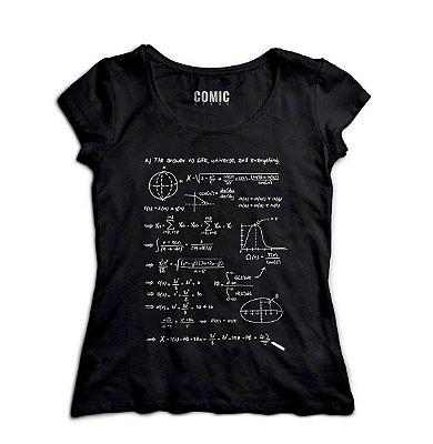 Camiseta Feminina Forma Universe