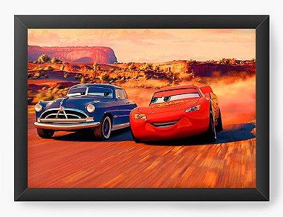 Quadro Decorativo Cars Lightning McQueen and Doc Hudson