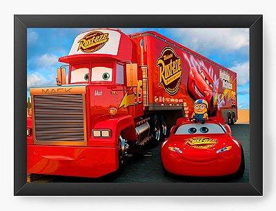 Quadro Decorativo Cars Lightning McQueen and Mack