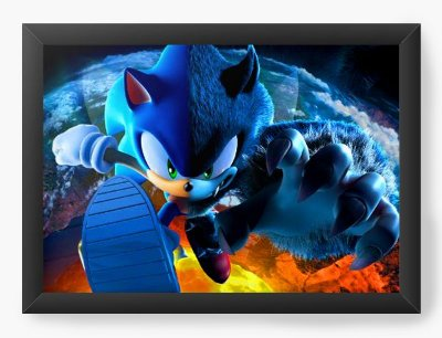 Quadro Decorativo Sonic Unleashed