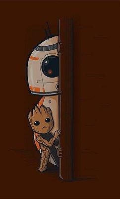 Camiseta BB-8 E Groot