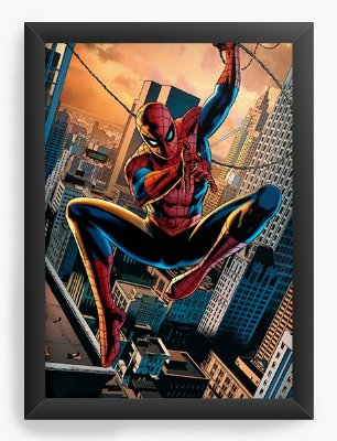 Quadro Decorativo Spider-man HQ