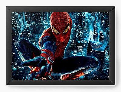 Quadro Decorativo Spiderman Fighting Crime at Night