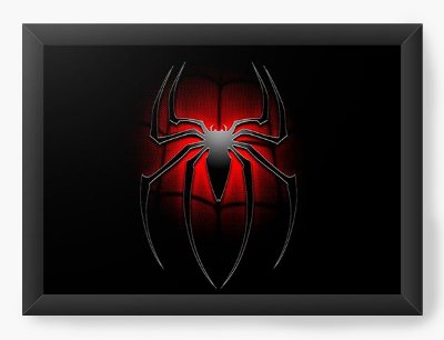 Quadro Decorativo Spiderman - Symbol