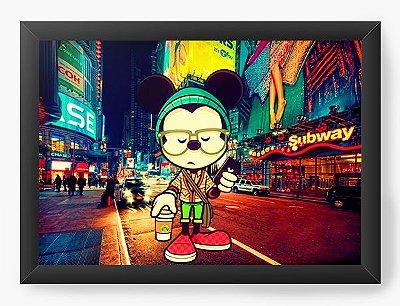 Quadro Decorativo Mickey in downtown