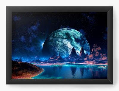 Quadro Decorativo The Moon