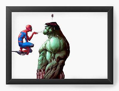 Quadro Decorativo Hulk e Homem Aranha