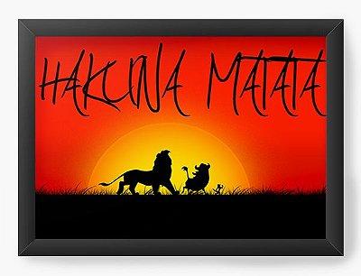Quadro Decorativo Hakuna Matata - Rei Leão