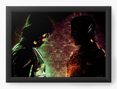 Quadro Decorativo Flash e Arrow