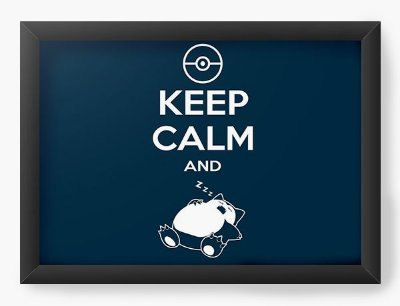 Quadro Decorativo Keep Calm And Slep