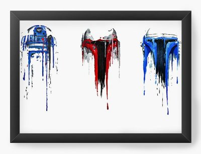 Quadro Decorativo R2-D2 Star Wars