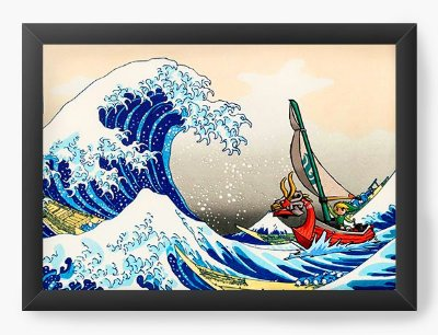 Quadro Decorativo The Legend of Zelda - Link in the ocean