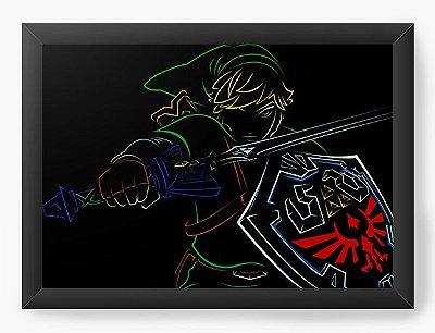 Quadro Decorativo The Legend of Zelda Link