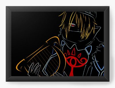 Quadro Decorativo The Legend of Zelda - Light paint art