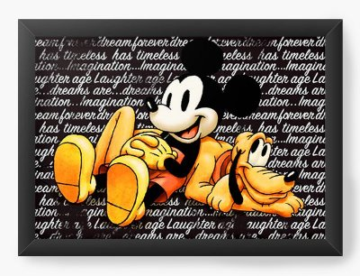 Quadro Decorativo Pluto and Mickey Mouse