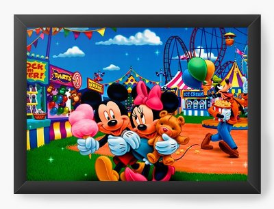 Quadro Decorativo Mickey and Minnie