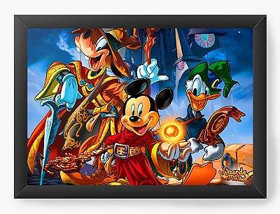 Quadro Decorativo Mickey Pateta e Pato Donald