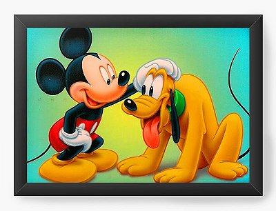 Quadro Decorativo Pluto e Mickey
