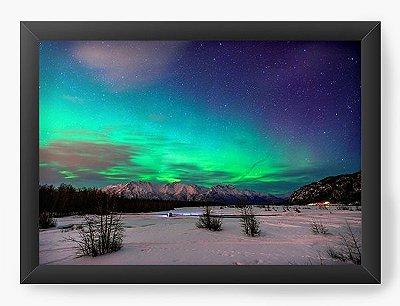 Quadro Decorativo Aurora Boreal