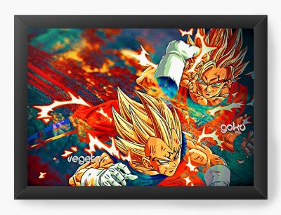 Quadro Decorativo Dragon Ball - Vegeta