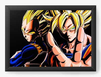 Quadro Decorativo Dragon Ball - V de Vegeta