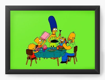 Quadro Decorativo The Simpsons cartoons mac cool