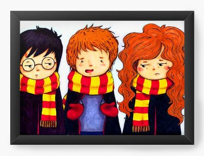Quadro Decorativo Harry Potter Anime