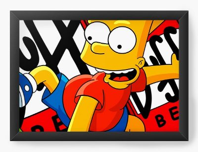 Quadro Decorativo Bart Simpson