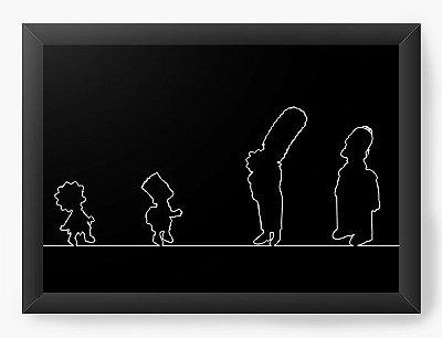 Quadro Decorativo Os Simpsons versão silhueta
