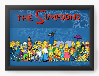 Quadro Decorativo The Simpsons - All the characters