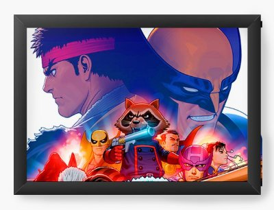 Quadro Decorativo Street Fighter Marvel
