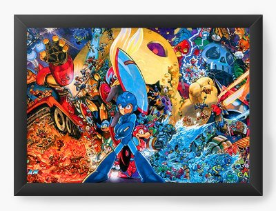Quadro Decorativo Street Fighter Mega Man
