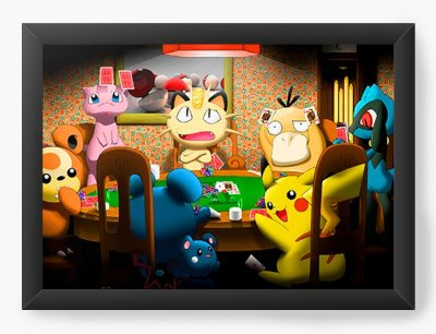 Quadro Decorativo Pokemon Playing