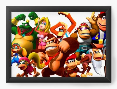 Quadro Decorativo Donkey Kong
