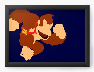 Quadro Decorativo Donkey Kong  Jumping