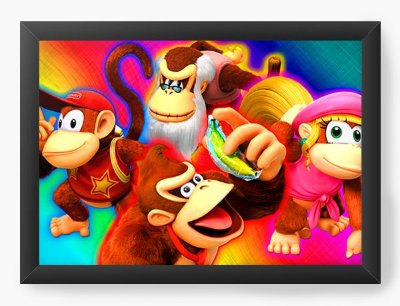 Quadro Decorativo Donkey Kong Happy