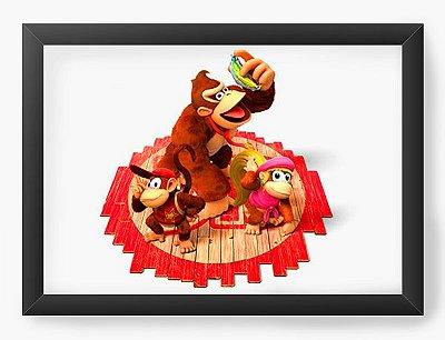 Quadro Decorativo Donkey Kong Banana
