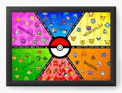 Quadro Decorativo Pokemon Pokebola