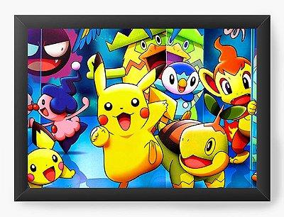Quadro Decorativo Pokemon Pikachu