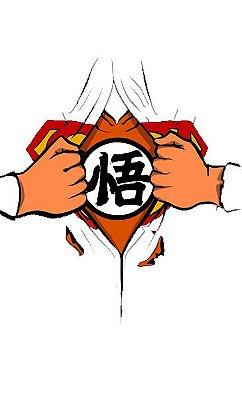 Camiseta Branca Superman Goku