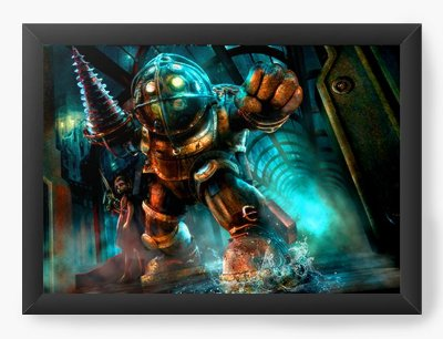 Quadro Decorativo BioShock - Big Daddy and Little Sister