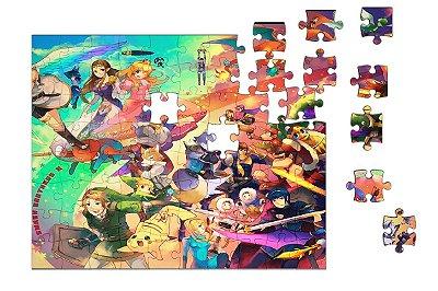 Quebra-Cabeça The Legend of Zelda e Final Fantasy 90 pçs