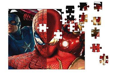 Quebra-Cabeça Homem de Ferro, Homem de Aranha 90 pçs