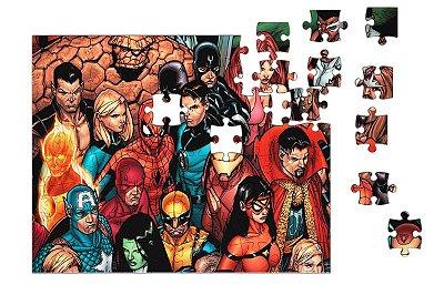 Quebra-Cabeça Homem de Ferro, Homem de Aranha - Diversos Herois 90 pçs