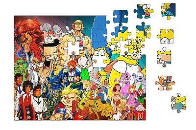 Quebra-Cabeça Simpsons, Scooby 90 pçs